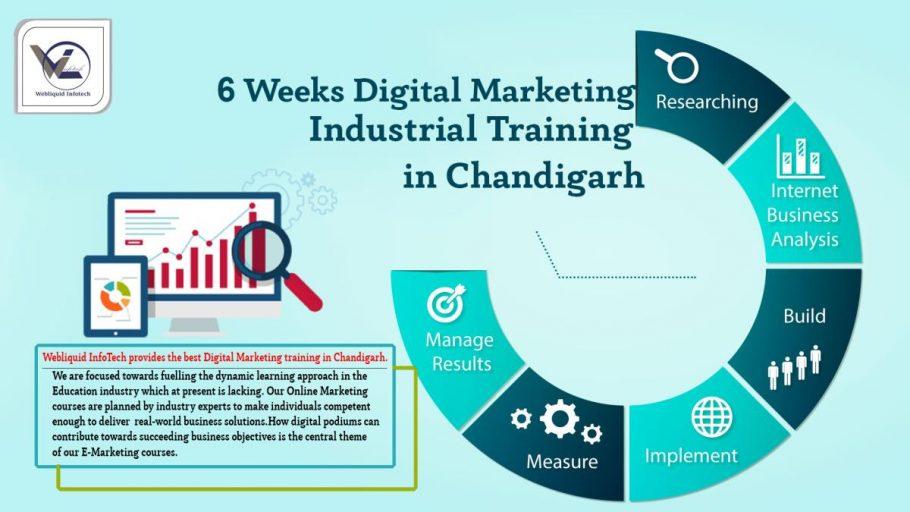6/Six weeks Digital Marketing Industrial Training in Chandigarh - Webliquidinfotech