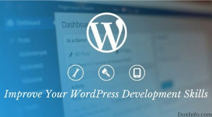 improve WordPress skills