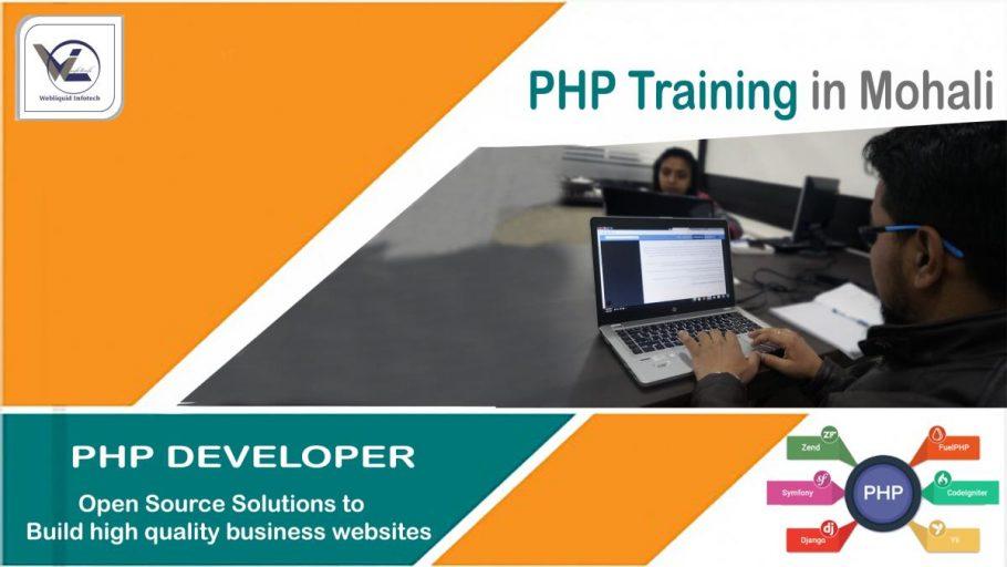 PHP Training in Mohali - Webliquidinfotech