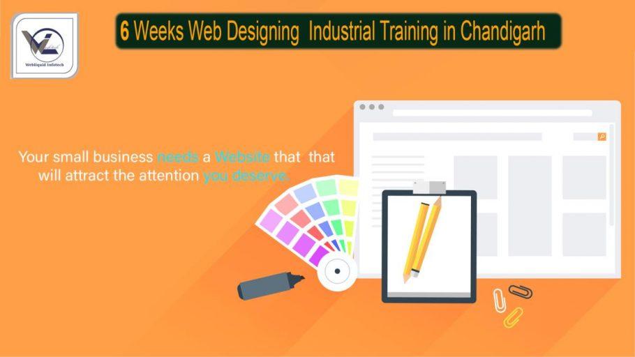 6/Six weeks Web Designing Industrial Training in Chandigarh - Webliquidinfotech